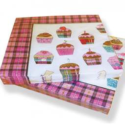 View the Scottish tartan cupcake 3-ply paper napkins (pk 20) online at Cake Stuff