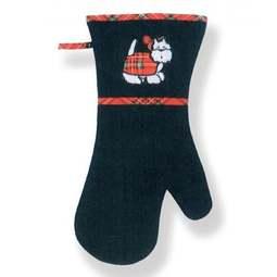 View the Tartan Terrier cotton oven long gauntlet glove online at Cake Stuff