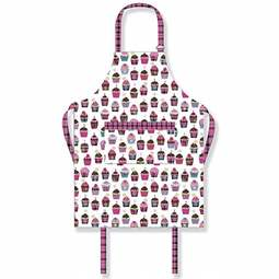 View the adults' Scottish tartan cupcake PVC cotton apron online at Cake Stuff