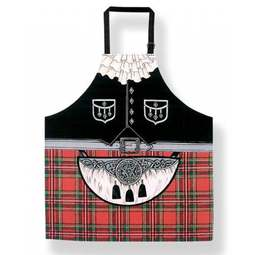 View the adults' Scottish kilt & sporran cotton apron online at Cake Stuff