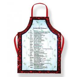 View the adults funny Scottish Dictionary PVC cotton apron online at Cake Stuff