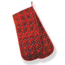 View the Royal Stewart tartan cotton double oven gloves online at Cake Stuff