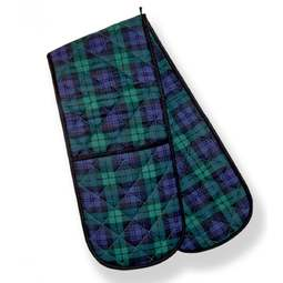 View the Black Watch tartan cotton double oven gloves online at Cake Stuff