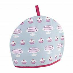 View the **CLEARANCE** 1960's retro Cakes & Cupcakes cotton tea cosy online at Cake Stuff