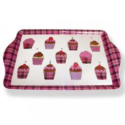 View the Scottish tartan cupcake medium melamine tray online at Cake Stuff