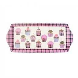 View the Scottish tartan cupcake long melamine tray online at Cake Stuff