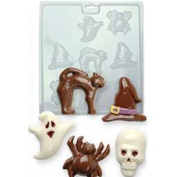 View the HALLOWEEN chocolate & candy mould set - 8 cavities online at Cake Stuff