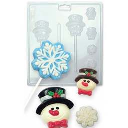 View the WINTER SNOW Christmas chocolate & candy mould - 7 cavities online at Cake Stuff