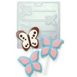 View the BUTTERFLIES chocolate & candy lolly mould set - 4 cavities online at Cake Stuff