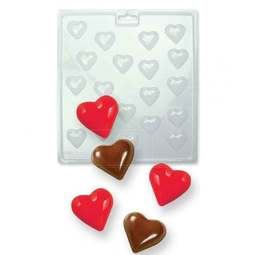View the MINI HEARTS chocolate & candy mould - 20 cavities online at Cake Stuff