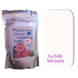 View the 1kg BULK WHITE Ultra Fine Sugar Flower Modelling Paste online at Cake Stuff