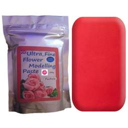 View the 200g FUCHSIA PINK Ultra Fine Sugar Flower Modelling Paste online at Cake Stuff