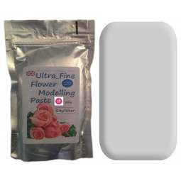 View the 200g SILVER GREY Ultra Fine Sugar Flower Modelling Paste online at Cake Stuff