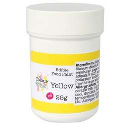 View the MATT YELLOW edible icing food paint 25g online at Cake Stuff