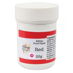 View the MATT RED edible icing food paint 25g online at Cake Stuff