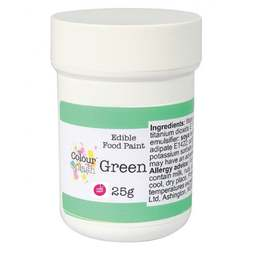 View the MATT GREEN edible icing food paint 25g online at Cake Stuff