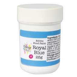 View the MATT ROYAL BLUE edible icing food paint 25g online at Cake Stuff