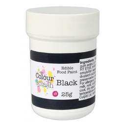 View the MATT BLACK edible icing food paint 25g online at Cake Stuff
