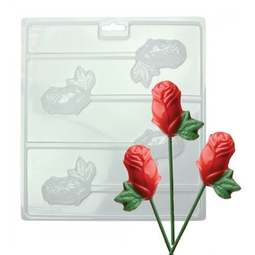 View the ROSES chocolate & candy lolly mould set - 4 cavities online at Cake Stuff