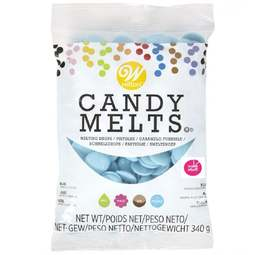 View the Blue Candy Melts chocolate buttons 340g online at Cake Stuff