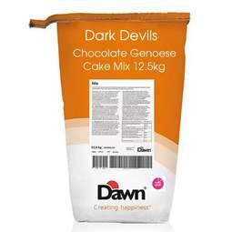 View the Dark Devils Genoese Chocolate cake & cupcake mix 12.5kg online at Cake Stuff