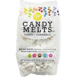 View the 1kg bulk BRIGHT WHITE vanilla Candy Melts chocolate online at Cake Stuff