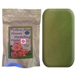 View the 200g FOLIAGE GREEN Ultra Fine Sugar Flower Modelling Paste online at Cake Stuff