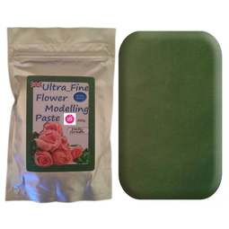 View the 200g HOLLY GREEN Ultra Fine Sugar Flower Modelling Paste online at Cake Stuff