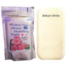 View the 200g BRILLIANT WHITE Ultra Fine Sugar Flower Modelling Paste online at Cake Stuff
