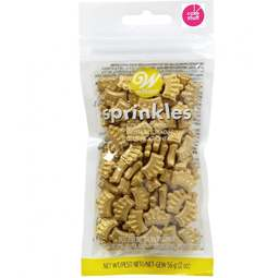 View the GOLD CROWNS edible sugar cake sprinkles 56g online at Cake Stuff