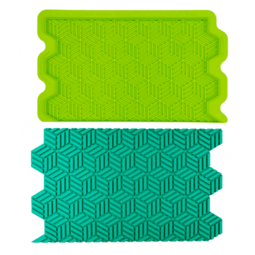View the GEOMETRIC ILLUSION Simpress silicone sugarcraft icing mould online at Cake Stuff