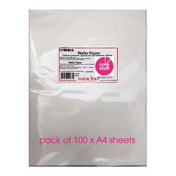 View the 100 sheets A4 size WHITE Edible Wafer Paper online at Cake Stuff