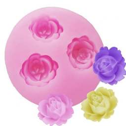 View the Small rose bud silicone fondant & gumpaste mould - 3 roses online at Cake Stuff