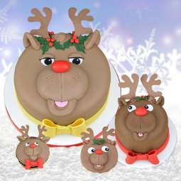 View the REINDEER ANTLER 4 pc icing sugarcraft cutter set online at Cake Stuff