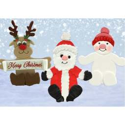 View the CHRISTMAS NOVELTY 6 pc icing sugarcraft cutter set online at Cake Stuff