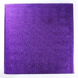 "View the 12"" PURPLE square thick cake board / drum online at Cake Stuff"