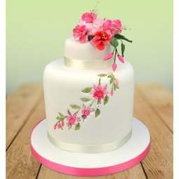 View the FLORAL LACE & FUCHSIA 11 pc icing flower cutter set online at Cake Stuff