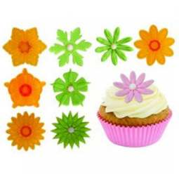 View the 4 pc #1 set Fantasy Cupcake Tops flower icing cutters online at Cake Stuff