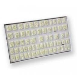 View the ALPHABET fondant icing cutters box set - 64 pc online at Cake Stuff