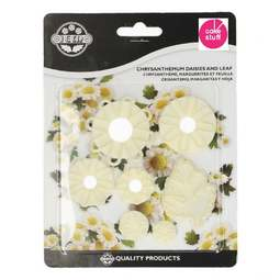 View the Chrysanthemum, Daisy & Leaf 7 pc icing cutter set online at Cake Stuff