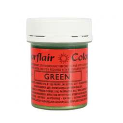 View the GREEN edible glitter paint liquid icing colouring 35g online at Cake Stuff