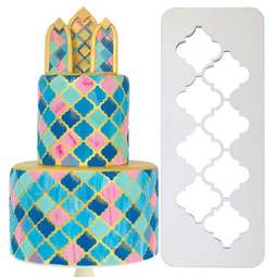 View the 3 pc MOROCCAN Geometric Multicutter icing cutter set online at Cake Stuff