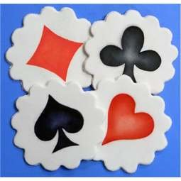View the *CLEARANCE* Playing Card Suits 4 pc cake icing stencil set online at Cake Stuff