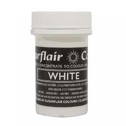View the WHITE Pastel paste gel icing / food colouring 25g online at Cake Stuff