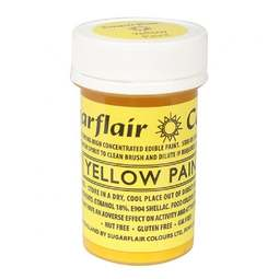 View the YELLOW PAINT 100% edible icing colouring 20g online at Cake Stuff
