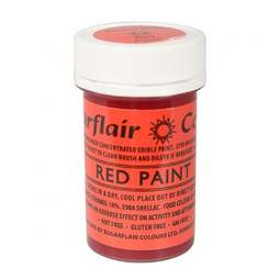 View the RED PAINT 100% edible icing colouring 20g online at Cake Stuff