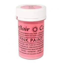View the PINK PAINT 100% edible icing colouring 20g online at Cake Stuff