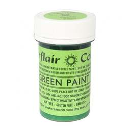 View the GREEN PAINT 100% edible icing colouring 20g online at Cake Stuff