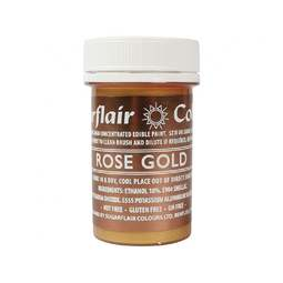 View the ROSE GOLD PAINT 100% edible icing colouring 20g online at Cake Stuff