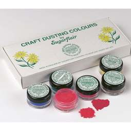 View the SPECIAL EDITION box of 10 Craft Dusting non-toxic icing colours 7ml online at Cake Stuff